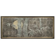"Japanese Screen, ""Silver Bamboo on Silver"" 