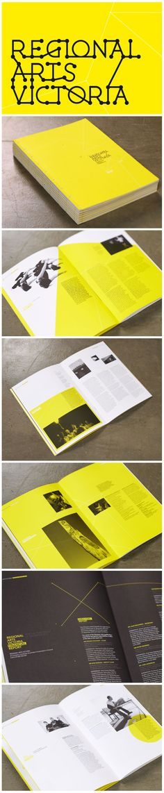 Regional Arts Victoria by Studio Brave - yellow is obviously the in colour for book design. Wonder if I'll use it?