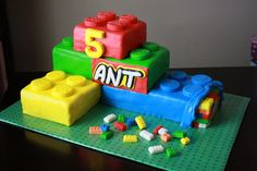 Lego Birthday Cake on Cake Central