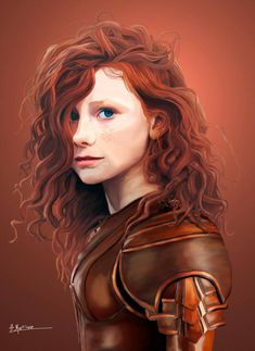 Human rogue by F-Martinez female red head with padded leather armour fighter DnD / PAthfinder character concept painting ideas for miniatures character Rpg art concept art keane art schmidt Anime Art Fantasy, Art Anime, Fantasy Rpg, Dungeons And Dragons Characters, Dnd Characters, Fantasy Characters, Female Characters, Fantasy Character Design, Character Design Inspiration