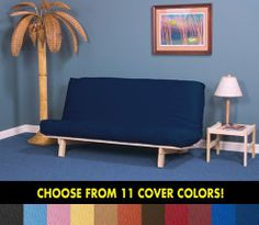 Dorm Futon Sofa Bed - Full Size Frame, Mattress & Rust Cover by World of Futons. $239.00. Mattress & Frame made in the USA.. Five position solid hardwood frame.. 8 inch fill white Airlay futon mattress.. Full 5 year frame warranty.. Machine washable cover included.. This item includes the Full Size Bi-Fold Sofabed solid hardwood frame with an 8 inch fill white full size (54x73 inch) futon mattress & your choice from 11 color covers. FIVE POSITION SOFABED - Our unique desi...