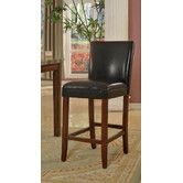 Found it at Wayfair - Faux Leather Barstool in Black
