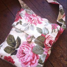 Vintage fabric floral messenger bag