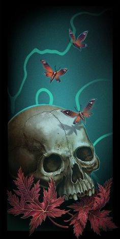 Skull Art by Alex Shatohin ☠️