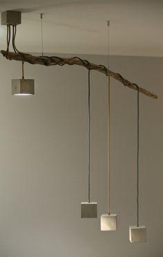 LED Lampe Hngeleuchte Holz antik Balken Holzlampe rustikal  eBay  HolzLampen  Pinterest