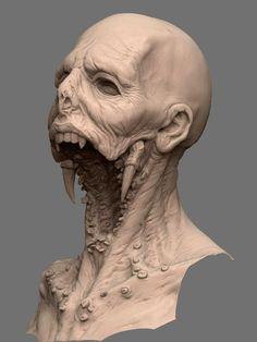 The Tooth Fairy by Dominic Qwek Monster Concept Art, Monster Art, Monster Drawing, Dark Creatures, Mythical Creatures, Creature Concept Art, Creature Design, Arte Horror, Horror Art
