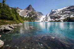 Jade Lake with Dip Top Gap in the background  By Ken Poore
