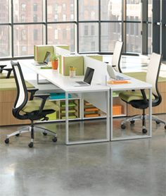 Voi + Hon: Benching Open Plan configuration for ease of collaboration with some sense of personal space