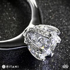 18k White Gold Ritani 6 Prong Solitaire Engagement Ring