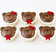 Cupcakes - Teddybear Theme x 12