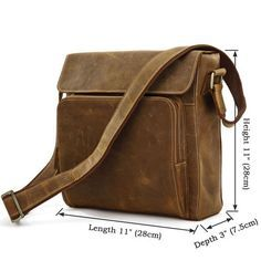 A modern design yet ruggedand stylish, thiscrazy horse leathersatchelbag is the perfect combination of vintage and present styles. This special leather hand