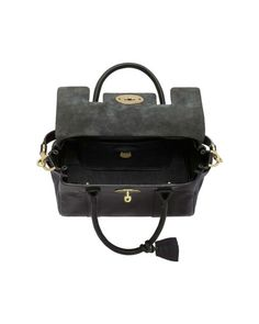 Mulberry | Black 'small Bayswater' Leather Satchel | Lyst