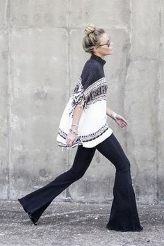 Massively Flared Jeans | Happily Grey | Bloglovin'