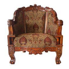 Gentlemen's Plush Grand-Scale Arm Chair