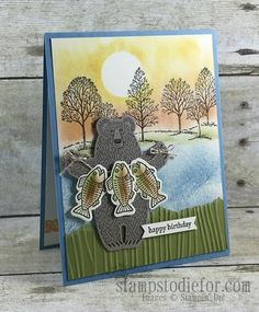 When I saw that the Bear Hugs stamp set was going to be carried over to the New Annual Stampin' Up! Catalog I placed an order right away. I just couldn't resist this cut stamp set and matching framel