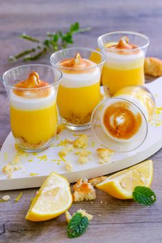 Verrines façon tarte au citron meringuée