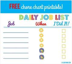 free chore chart printable #sponsored #hpfamilytime