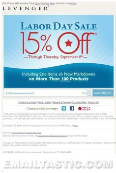 Labor Day Sale - 15% off - plus additional savings