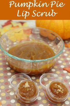 Homemade Pumpkin Pie Lip Scrub ~ If you love pumpkin spice, you won't want to…