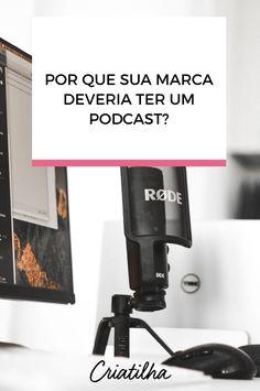 Podcasts são uma forma de disseminar seu conteúdo. Por isso, te mostramos alguns motivos do porquê você deve apostar em um Podcast para a sua marca. Just Do It, Marketing Digital, Blog, Social Networks, Smart Quotes, Organize, Life, Blogging