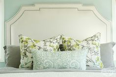 Great detailing on the headboard. House of Turquoise: Shea McGee Design