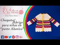 COMO TEJER ESTA CHAQUETA, PARA UNA NIÑA DE 4 AÑOS EN PUNTO ABANICO - YouTube