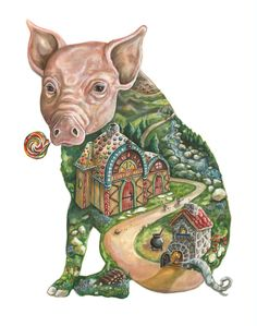 piglet painting - Google Search
