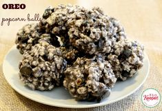 Oreo Popcorn Balls: One of my favorite Halloween treats