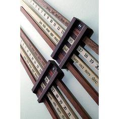 Calendario Bilancia, 1954 - Wooden Perpetual Wall Calendar by Enzo Mari Wood Projects, Woodworking Projects, Wall Calendar Design, Wooden Calendar, Desk Calender, Office Calendar, Enzo Mari, Slide Rule, Perpetual Calendar