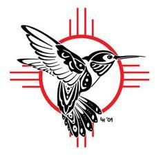 Tribal Hummingbird Tattoos Symbol Of Good Luck Bird Tattoo Designs Tattoo New Mexico Tattoo, Native American Symbols, Native American Design, Tribal Tattoos Native American, Haida Tattoo, Native Tattoos, Hummingbird Tattoo, Tattoo Bird, Hummingbird Drawing