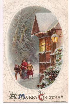 Antique Merry Christmas, postmarked 1911 from Pennsylvania