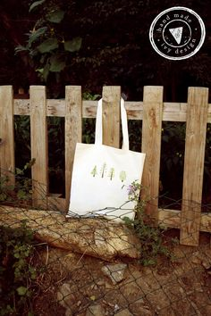 TREES - Handmade tote bag, painted totally by hand on Etsy, $19.00