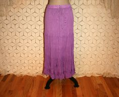 Hippie Skirt Purple Skirt Gauze Skirt Drawstring by MagpieandOtis