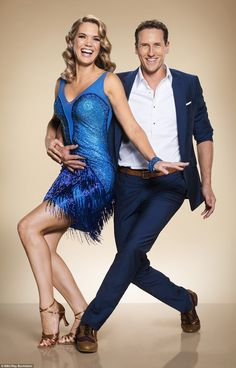 Off we go! Meanwhile Good Morning Britain's Charlotte Hawkins channeled her inner 1920s flapper girl in a fringed blue dress and glamorous tight curls, as she struck a pose from the Charleston with partner Brendan Cole