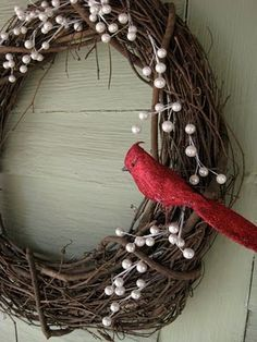 Winter Wreath, the house always feels a little empty after Christmas and I still want something seasonal.