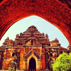 Red archway in Bagan, Myanmar. Photo courtesy of rebeltheglobaltrotter on Instagram.