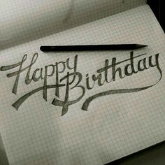 Are you looking for inspiration for happy birthday typography?Navigate here for unique happy birthday ideas.May the this special day bring you happy memories. Happy Birthday Caligraphy, Happy Birthday Hand Lettering, Happy Birthday Font, Happy Birthday Drawings, Happy Birthday For Her, Birthday Cards, Birthday Wishes, Birthday Ideas, Calligraphy Quotes Doodles