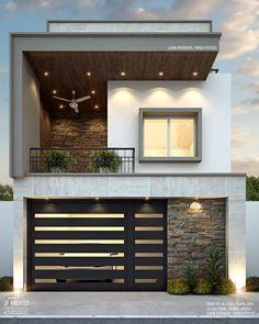 Large Homes Exterior, Modern Exterior, Exterior Design, Bungalow House Design, Small House Design, Modern House Design, Small Apartment Interior, Apartment Design, Lofts
