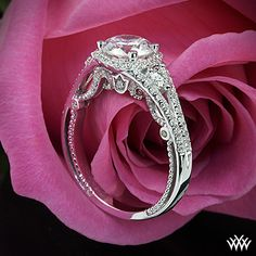 Verragio Domed Bead-Set Diamond Engagement Ring from the Verragio Insignia Collection.