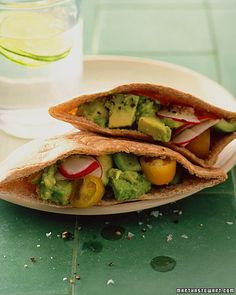 Spiced Avocado Pitas #vegetarian #pescetarian