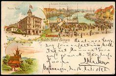 Hordaland fylke BERGEN - HOLDTS HOTEL - 3-bilders fargekort. Brukt 1898