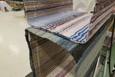lars hofsjo recycles swedish rag rugs into torp and dunker tables Rag Rugs, Recycling, Tables, Traditional, Design, Home Decor, Deco, House, Mesas