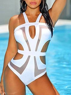 96c62d920a sexy-hollow-out-gauze-patchwork-one-piece-swimsuit Trajes