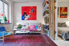 40 square meters - this is the size of this Scandinavian apartment, wow. And still, there is a...