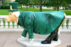"Madison, Wisconsin - Cow Parade in 2006 - ""The Wizard of Oz"" - 101 life size fiberglass cow statues"