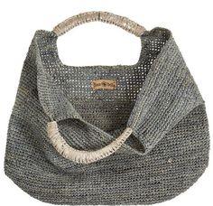 Crochet Raffia Leather Tote à Crochet Tote, Crochet Handbags, Crochet Purses, Knit Crochet, My Bags, Purses And Bags, Tote Bags, Basket Bag, Knitted Bags