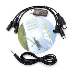 2016 New Arrival High Quality 22 in 1 RC USB Flight Simulator Cable for Realflight G7 G6 G5.5 G5 Best Price