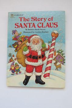 Vintage Childrens Christmas Book  The Story of by shabbyshopgirls