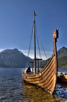 Viking ship in Shetland, Scotland. My heritage! I'm a Viking Scot! Viking Ship, Viking Age, Viking Sword, Norse Vikings, Scotland Travel, Scotland Uk, Wooden Boats, Tall Ships, Water Crafts