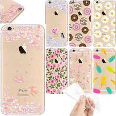 For iPhone 5 6 6S 7 Plus Case Banana flowers Pattern Soft TPU Silicone Cover For Apple iphone 7 Capa Phone Back Bag Fundas